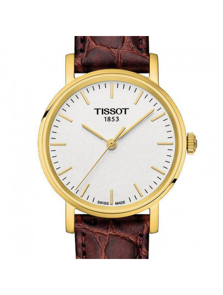 Tissot Lady Everytime Brown Leather Strap T1092103603100