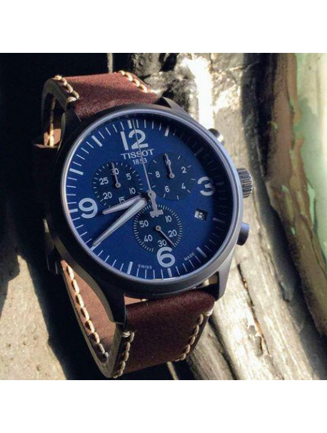 TISSOT T-Sport Chrono Brown Leather Chronograph T1166173604700