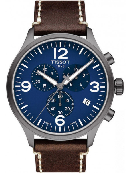 TISSOT T-Sport Chrono Brown Leather Chronograph T1166173604700