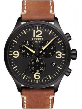 TISSOT T-Sport Chrono XL Brown Leather Chronograph T1166173605700