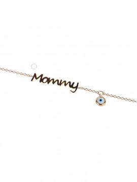 Βραχιόλι Χρυσό Mommy Με Ζιργκόν oro253